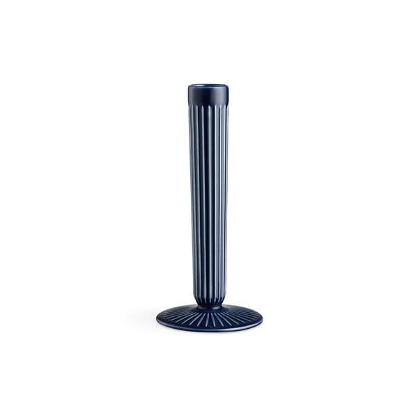 Hammershoi sötétkék agyagkerámia gyertyatartó, magasság 20 cm - Kähler Design