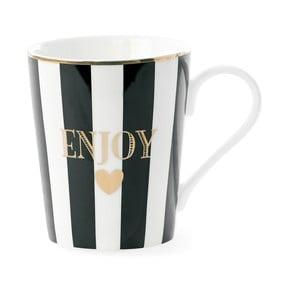 Hrnek Miss Étoile Enjoy Black Stripes, 8 cm