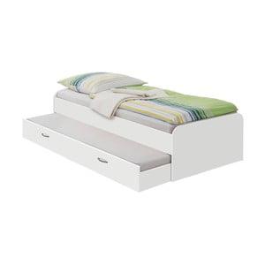 Bílá jednolůžková postel 13Casa Pepper, 90x200cm