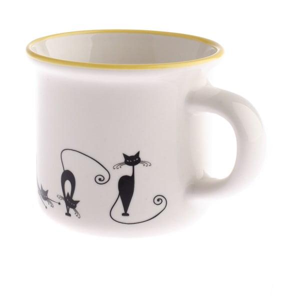 Porcelánový hrnček Dakls Cats Tonny, 75 ml