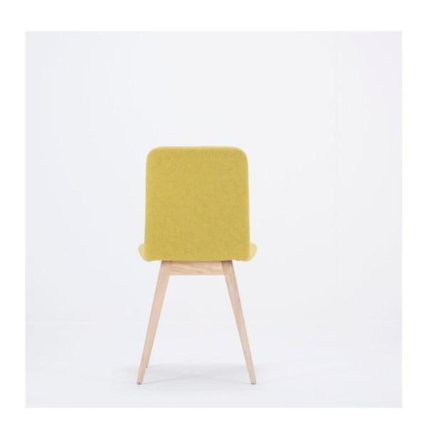 Scaun din lemn de stejar Gazzda Ena, galben