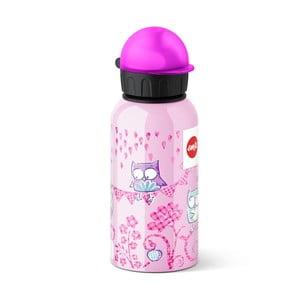 Dětská lahev na pití Owl, 400 ml