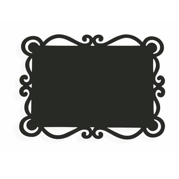 Sada 6 černých obdelníkových prostírání Villad'Este Dorian