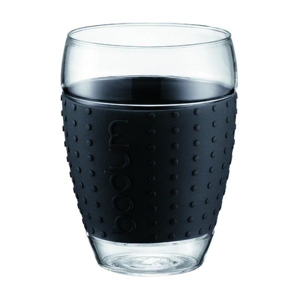Sada 2 sklenic Pavina Big, černý proužek