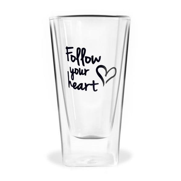 Pahar cu perete dublu Vialli Design Follow Your Heart, 300 ml