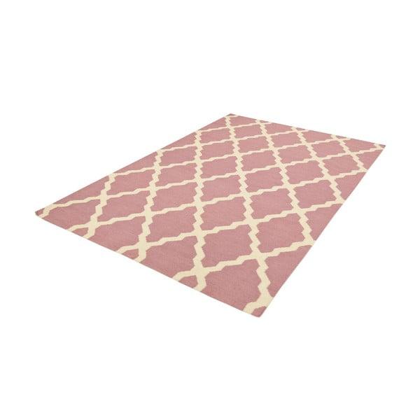 Vlněný koberec Kilim Pink, 160x230 cm