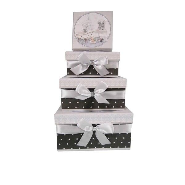 Zestaw 4 pudełek Antic Line Style