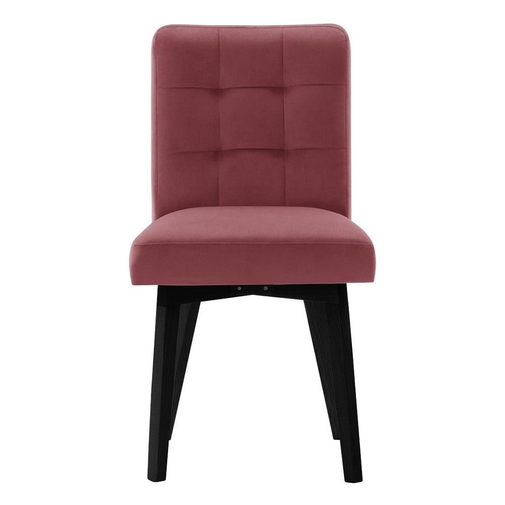 f37c7b52983c Růžová jídelní židle s černými nohami My Pop Design Haring