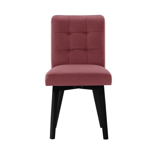 Růžová jídelní židle sčernými nohami My Pop Design Haring