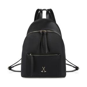 Černý batoh z eko kůže Beverly Hills Polo Club Fran
