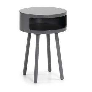 Šedý odkládací stolek s úložným prostorem La Forma Bruk