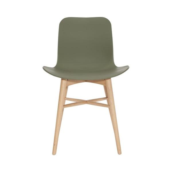 Zelená jídelní židle z masivního bukového dřeva NORR11 Langue Natural