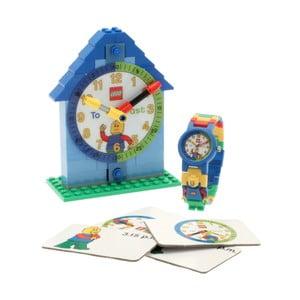 Modré hodinky a výuková stavebnice LEGO® Time Teacher