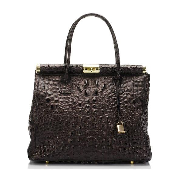 Tmavě hnědá kožená kabelka Lisa Minardi Lantha