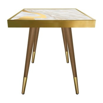 Măsuță Caresso Gold Marble Square, 45 x 45 cm