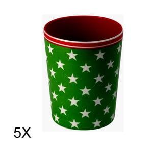 Set 5ks hrnků Star Green