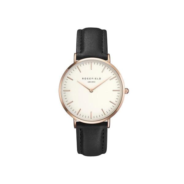 Bíločerné dámské hodinky Rosefield The Bowery