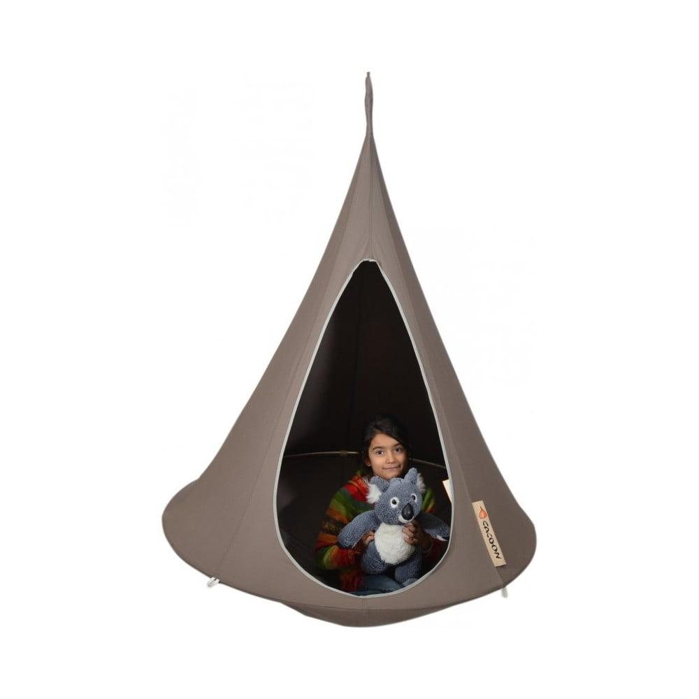 Hnědé závěsné křeslo pro děti Cacoon Bonsai