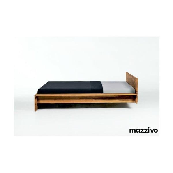 Postel Fidenza z olšového dřeva, 180x200 cm, bezbarvý vosk