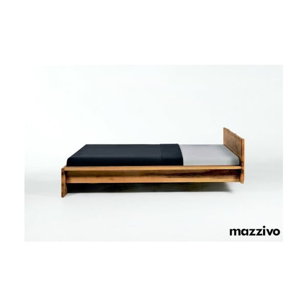 Postel Fidenza z olšového dřeva, 200x200 cm, natural
