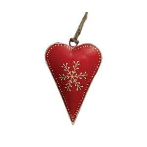 Červená vánoční dekorace Rex London Snowflake