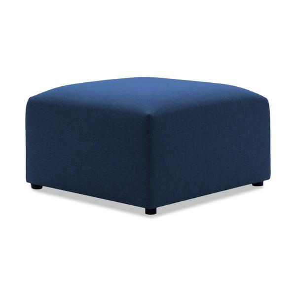 Tmavě modrá dvoumístná pohovka s podnožkou Vivonita Cube