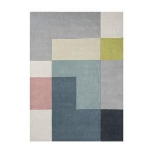 Vlněný koberec Tetris Lime, 170x240 cm