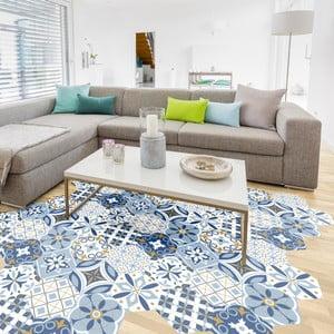 Set 10 autocolante pentru podea Ambiance Hexagons Jelilna, 20 x 18 cm