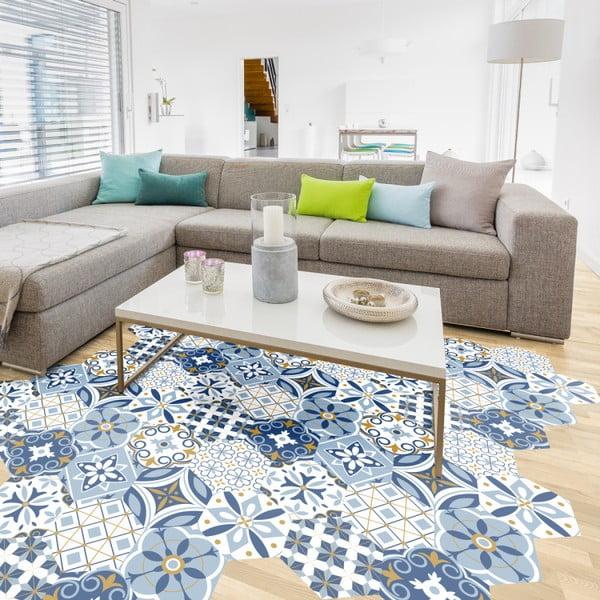 Hexagons Jelilna 10 db-os matrica szett padlóra, 20 x 18 cm - Ambiance