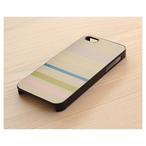 Obal na iPhone 5, Minimalist stripes&woods/black
