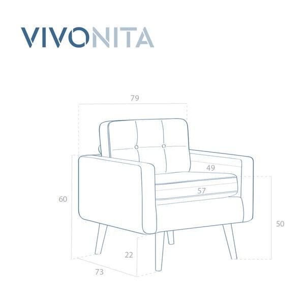 Pastelově modré křeslo Vivonita Ina