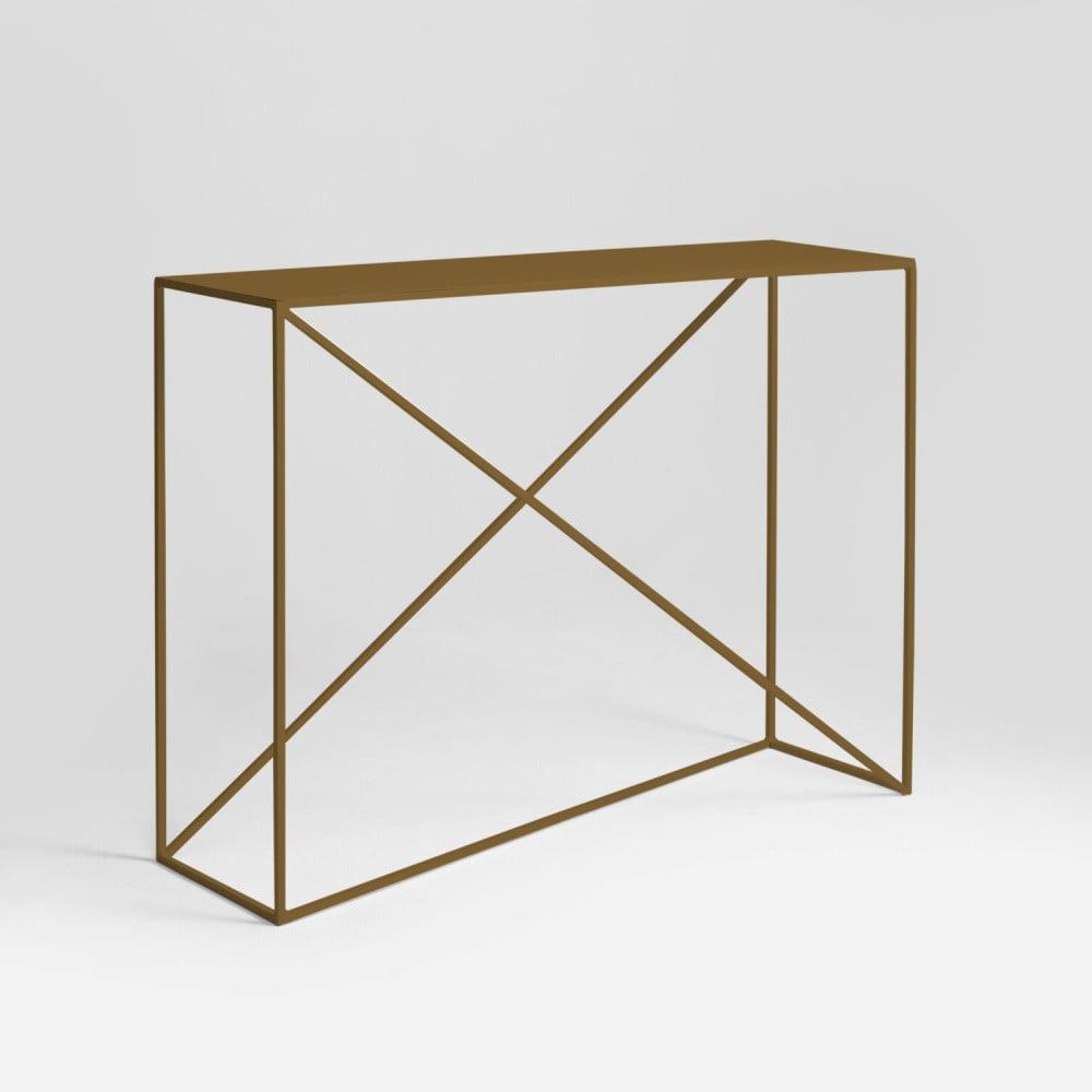 Konzolový stolek ve zlaté barvě Custom Form Memo