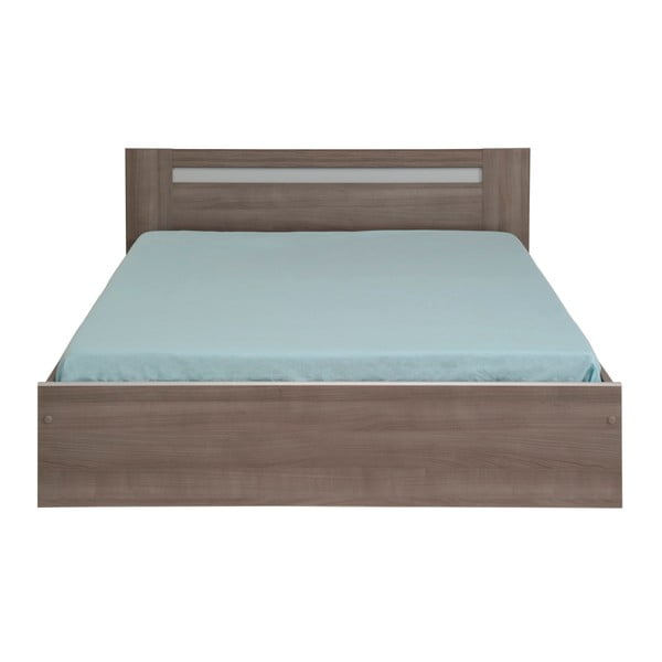 Dvoulůžková postel v dekoru ořechového dřeva Parisot Arlette, 160x200cm