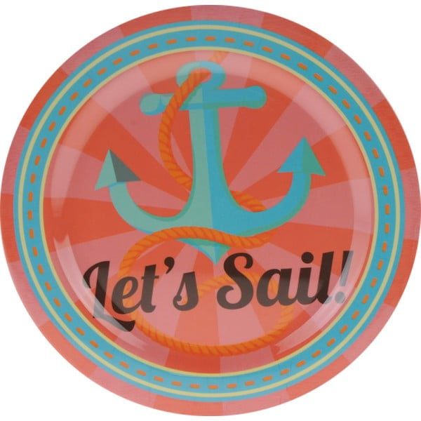 3dílná kempinková sada nádobí Postershop Let's Sail