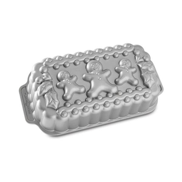 Formă pentru chec Nordic Ware Gingerbread Family, 1,4 l, argintiu