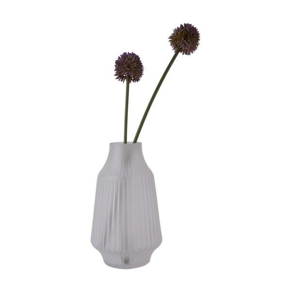 Šedá skleněná váza PT LIVING StripES, Ø 16 cm