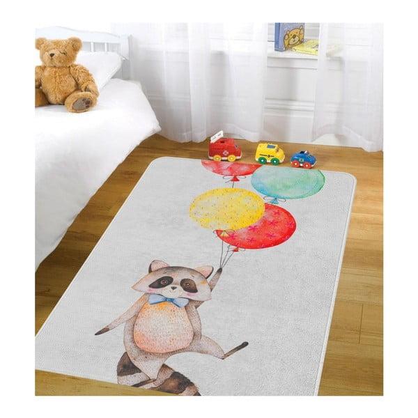 Dětský koberec OYO Kids Raccoon Adventures, 80 x 140 cm