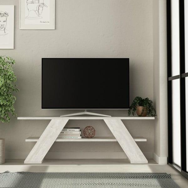 Bílý TV stolek Farfalla Antique White