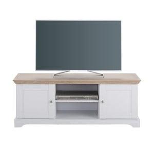 Bílý dřevěný TV stolek Støraa Anika