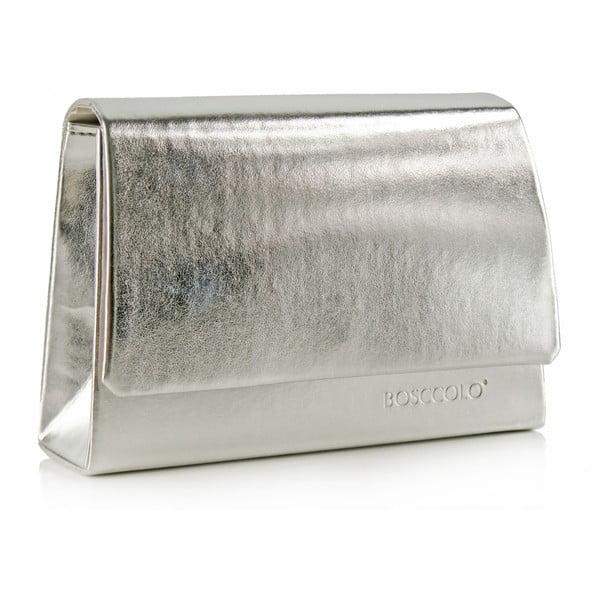Kožená kabelka/psaníčko Boscollo Silver 3486