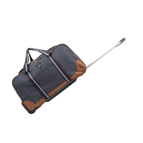 Szara torba podróżna na kółkach GENTLEMAN FARMER Sydney, 40 l