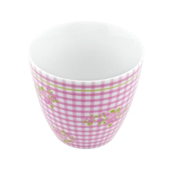 Porcelánový šálek Karo S, růžový 4 ks