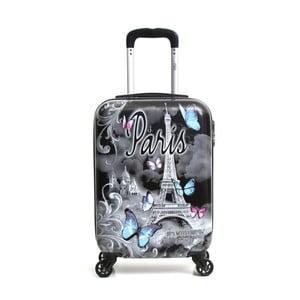 Černý cestovní kufr na kolečkách Hello Paris