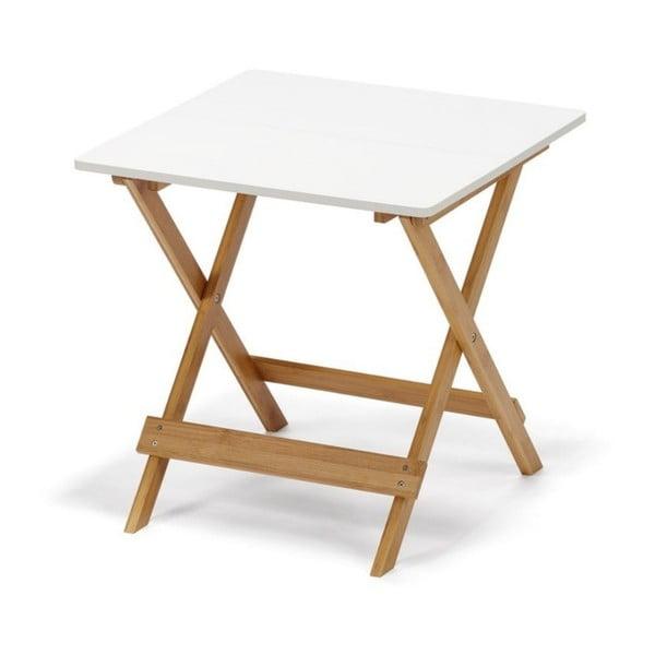 Lora fehér összecsukható bambusz tárolóasztal - loomi.design