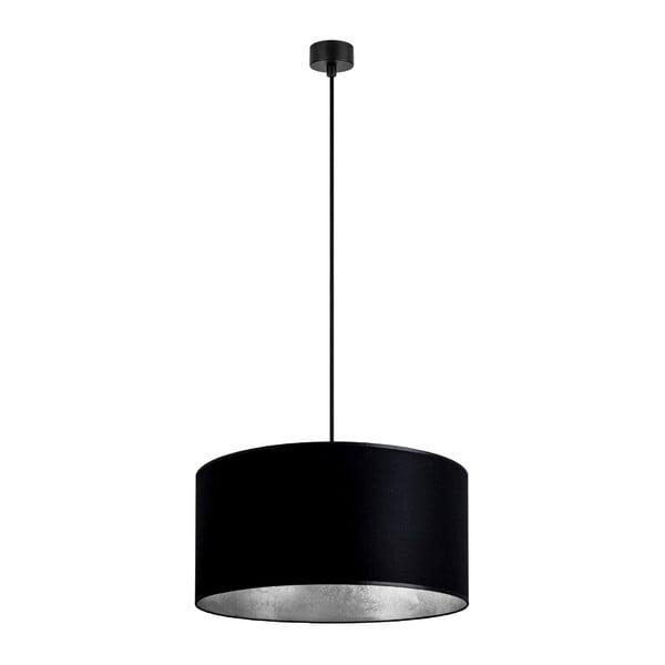 Mika fekete függőlámpa ezüstszínű részletekkel, ∅ 40 cm - Sotto Luce