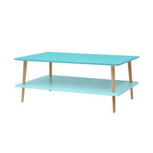 Tyrkysový konferenční stolek se sníženou spodní deskou Ragaba KORO