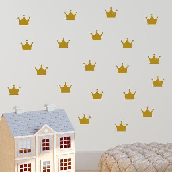 Crown citromsárga öntapadós falmatrica szett - North Carolina Scandinavian Home Decors