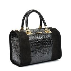 Černá kožená kabelka Isabella Rhea Kleo Nero