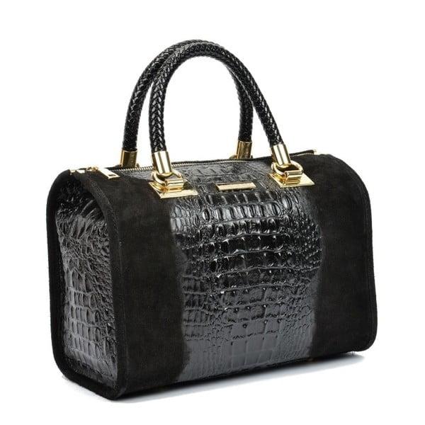 Černá kožená kabelka Isabella Rhea Kleo
