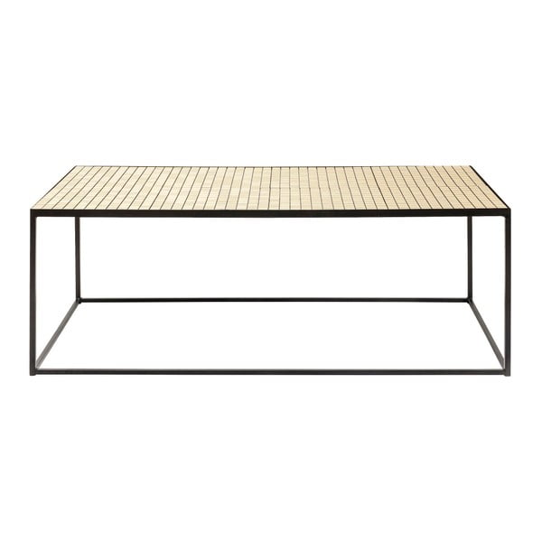 Konferenční stolek ze skla a kovu Kare Design Cubes, 120 x 60 cm